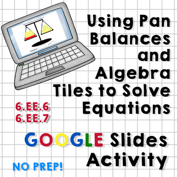 Balance Algebra Tiles Addition/Multiplication Equations Google Slides Activity