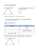 Using Parallel Lines and Triangles to Prove The Triangle Sum Theorem