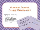 Using Parallelism - Ready to Use Powerpoint Mini Lesson