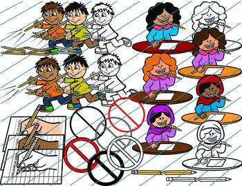 Using Pencils Safely and Appropriately Clipart- How to use a pencil 79 images