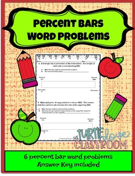 Using Percent Bars Word Problems 7.3A