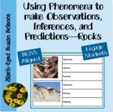 Using Phenomena to Make Observations, Inferences, and Predictions  (NGSS) Rocks