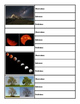 Using Phenomena to Make Observations, Inferences, and Predictions  (NGSS) Space