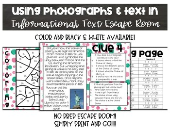 Using Photographs and Text in Informational Text Escape Room