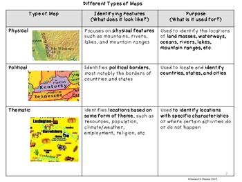 Using Physical Political And Thematic Maps By James Hamm Tpt