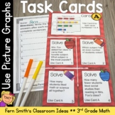 3rd Grade Go Math Chapter Two 2.2 Using Picture Graphs Task Cards