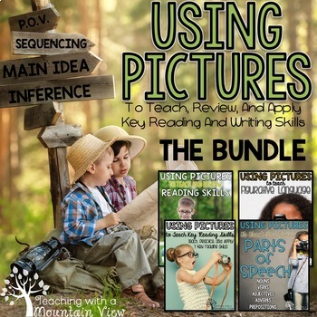 Using Pictures for Reading Skills BUNDLE   Distance Learning   Google Classroom