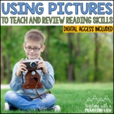 Using Pictures to Review MIXED Reading Skills   Distance Learning   Google