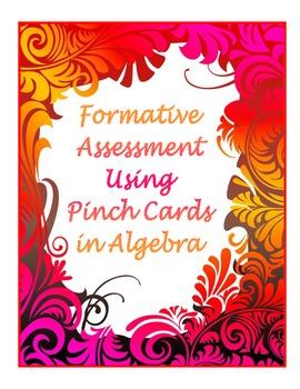 Using Pinch Cards for Algebra Formative Assessment