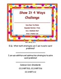 Using Place Value to Add and Subtract: Show It 4 Ways Challenge Packet