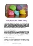Using Play Dough to Get Kids Talking
