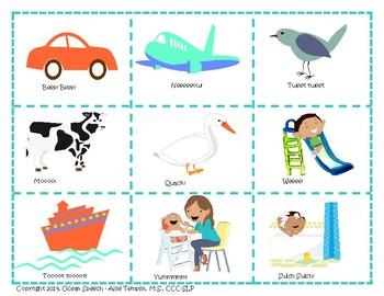 Using PlaySounds -  Picture cards & parent handout resource - symbolic sounds