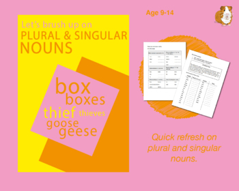 Using Plural And Singular Nouns (Improve Your English Work Packs) 9-14 years