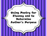 Using Poetry for Fluency Practice and determining Author's Purpose