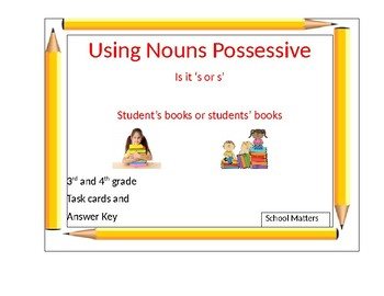 Using Possessive Nouns