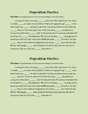 Using Prepositions in Writing Practice