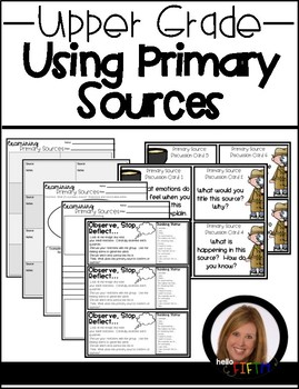 Using Primary Sources in the Upper Grades