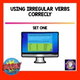 Irregular Verbs Set One BOOM Cards   Distance Learning