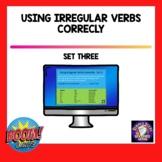 Using Irregular Verbs BOOM Cards Set Three | Distance Learning