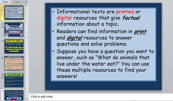 Using Print and Digital Resources in Nonfiction