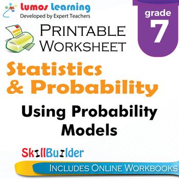 Using Probability Models Printable Worksheet, Grade 7