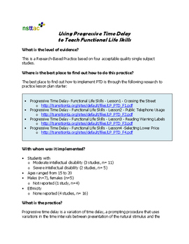 Using Progressive Time Delay to Teach Functional Life Skills