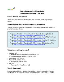 Using Progressive Time Delay to Teach Functional Life Skills