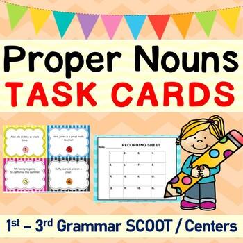 Using Proper Nouns Grammar SCOOT or Task Cards