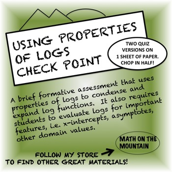 Using Properties of Logs Check Point