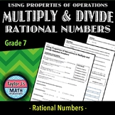 Using Properties of Operations to Multiply and Divide Rational Numbers Worksheet