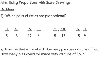 Using Proportions with Scale Drawings