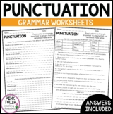 Using Punctuation Worksheets - No Prep Printables