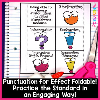 Using Punctuation for Effect Week Long Lessons! Common Core Aligned  L4.3b