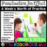 Using Punctuation for Effect Week Long Lessons! Common Cor