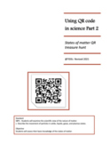 Using QR Codes in Science Part 2: State of Matter QR treas