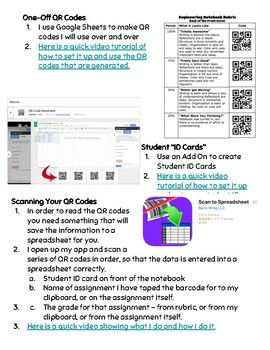 Using QR Codes to Grade Student Work