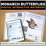 Monarch Butterfly Life Cycle Distance Learning Unit