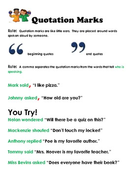 Using Quotation Marks Corre... by Dana Hoover's Creative Teaching ...