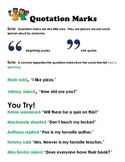 Using Quotation Marks Correctly : Creative Teaching Packet
