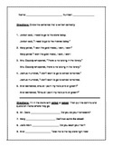 Using Quotation Marks in Dialogue Assessment Test