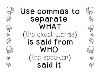 Using Quotation Marks in Dialogue Practice Punctuation Writing Activity Cards