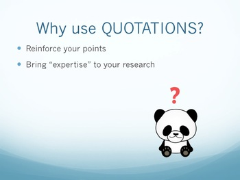 Using Quotations: Research Paper PowerPoint Presentation