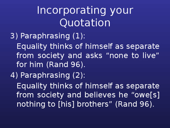 Using Quotations Responsibly PPT