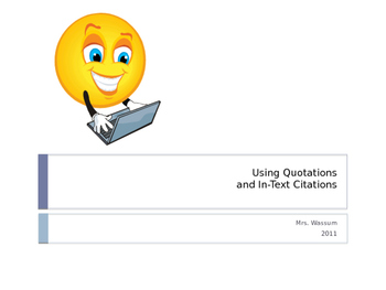 Using Quotations and In-Text Citations in MLA Format