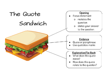 using quotes correctly quote sandwich by fancy free in fifth tpt. Black Bedroom Furniture Sets. Home Design Ideas