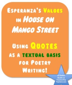 Using Quotes as a textual basis for Poetry Writing! (House on Mango Street)