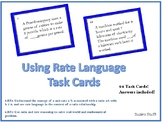 Using Rate Language - Task Cards!