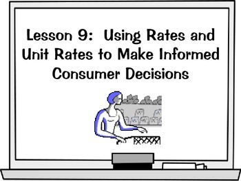 Using Rates and Unit Rates to Make Informed Consumer Decisions