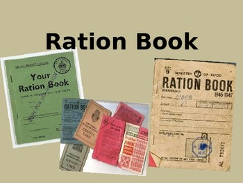 Using Ration Books-  MAKE YOUR OWN!
