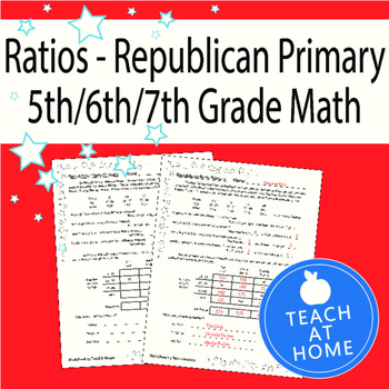 Using Ratios Worksheet; Real World Problems: Voting, Election, Republican Party